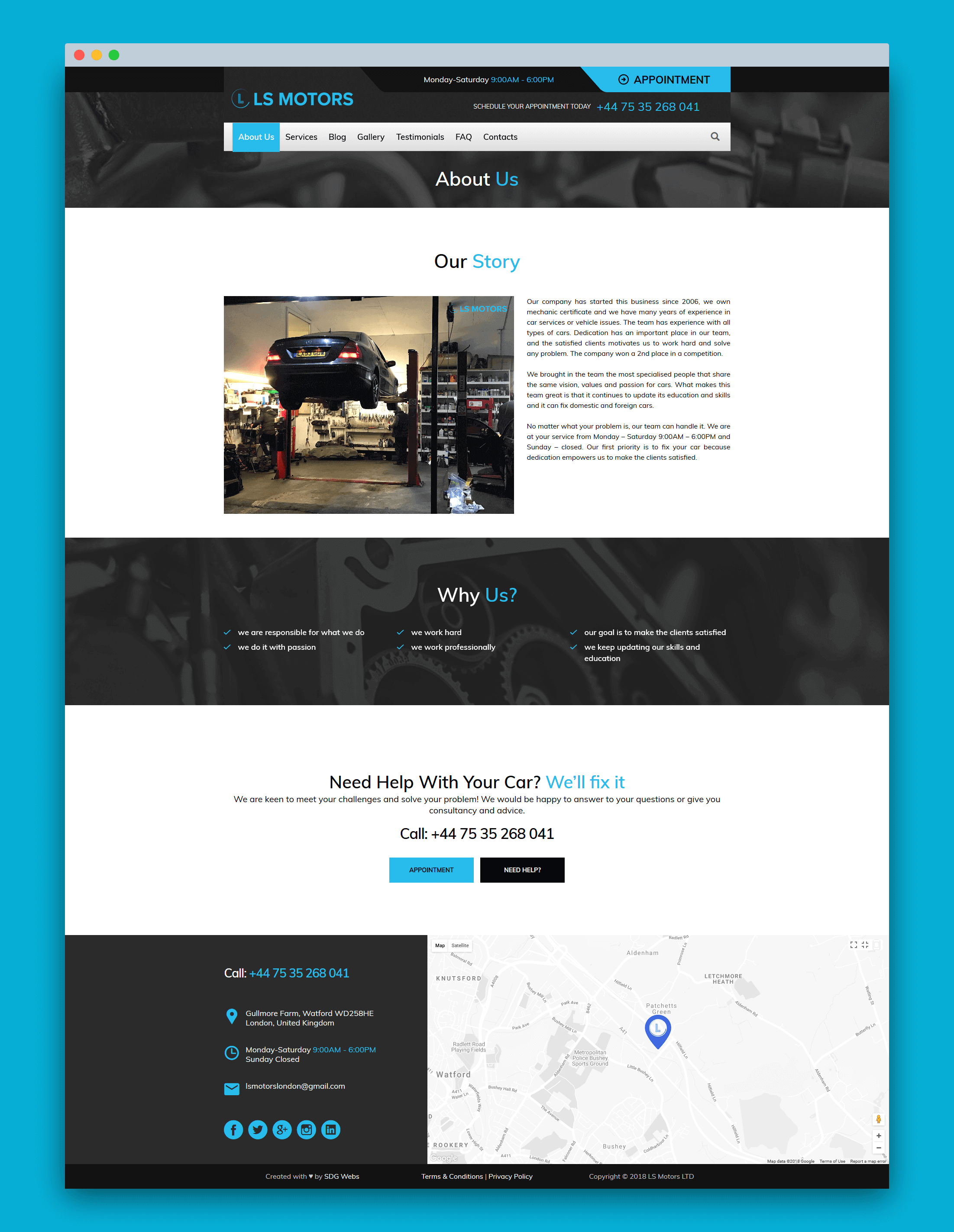 Project About Page